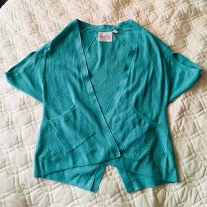 Sea Green Anthropologie Cardigan